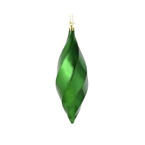 """Arielle Drop Ornament 8"""" Set of 6 Emerald Shiny"""
