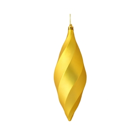 "Arielle Drop Ornament 8"" Set of 6 Gold Matte"