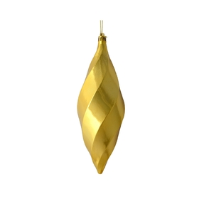 "Arielle Drop Ornament 8"" Set of 6 Gold Shiny"