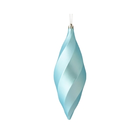 "Arielle Drop Ornament 8"" Set of 6 Ice Blue Matte"