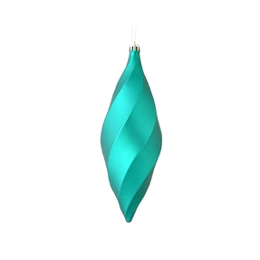 "Arielle Drop Ornament 8"" Set of 6 Turquoise Matte"