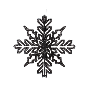 "Aurora 3D Snowflake 6"" Set of 3 Black"