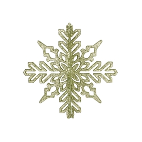 "Aurora 3D Snowflake 6"" Set of 3 Celadon"