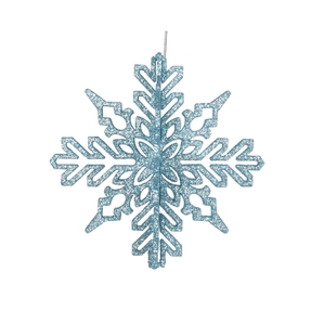 "Aurora 3D Snowflake 6"" Set of 3 Ice Blue"