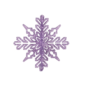 "Aurora 3D Snowflake 6"" Set of 3 Lavender"