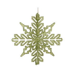 "Aurora 3D Snowflake 6"" Set of 3 Lime"