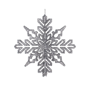 "Aurora 3D Snowflake 6"" Set of 3 Pewter"