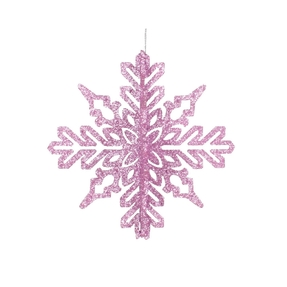 "Aurora 3D Snowflake 6"" Set of 3 Pink"