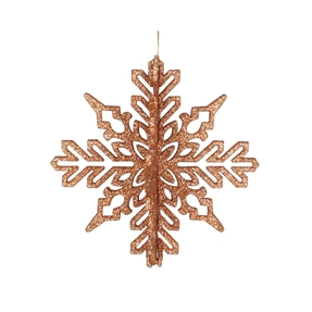 "Aurora 3D Snowflake 6"" Set of 3 Rose Gold"