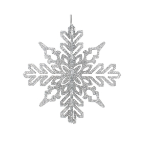 "Aurora 3D Snowflake 6"" Set of 3 Silver"