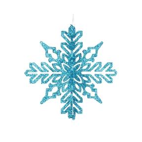 "Aurora 3D Snowflake 6"" Set of 3 Turquoise"