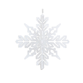 "Aurora 3D Snowflake 6"" Set of 3 White"
