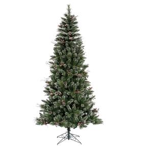9' Wintery Pine Slim Unlit