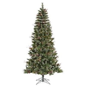 7' Wintery Pine Slim Warm White LED