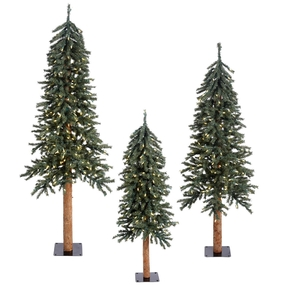 4' 5' 6' Aspen Alpine Tree Set Warm White LED
