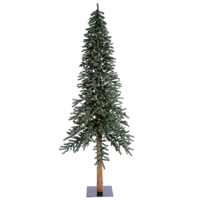 9' Aspen Alpine Tree Warm White LED