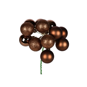 """Truffle Ball Ornament Cluster 12"""" Mixed Finish Set of 4"""