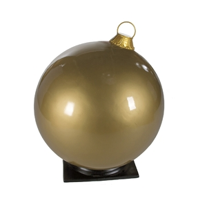 "Giant Outdoor Ball Ornament 33.5"" Glossy Gold"