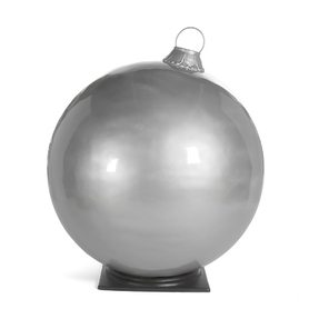 "Giant Outdoor Ball Ornament 33.5"" Glossy Silver"