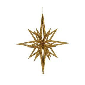 """Bethlehem Glitter Star 16"""" Gold"""