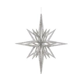 """Bethlehem Glitter Star 16"""" Silver"""
