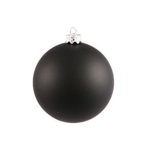 "Black Ball Ornaments 5"" Matte Set of 4"