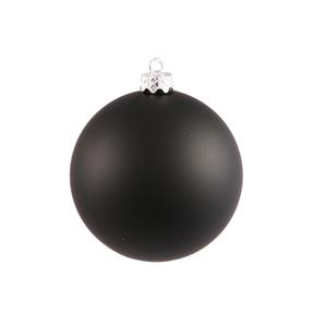 "Black Ball Ornaments 8"" Matte Set of 4"