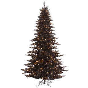 9' Black Fir Full w/ LED Lights