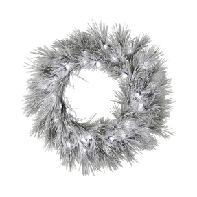 Blizzard Pine Wreath LED 36""