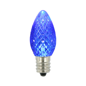 LED C7 Twinkle 25 Replacement Bulbs Set Blue