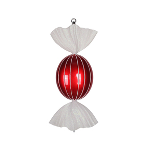 "Bonbon Peppermint Ornament 18.5"" Set of 2"