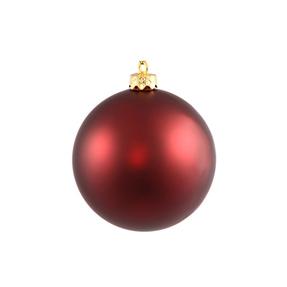 "Burgundy Ball Ornaments 4"" Matte Set of 6"