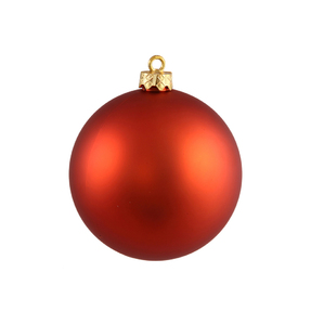 "Burnished Orange Ball Ornaments 8"" Matte Set of 4"