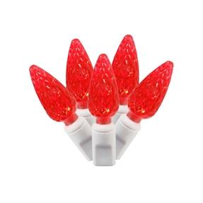 LED C6 150 Light Set Red
