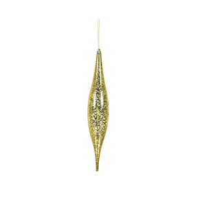 "Calla Slim Drop Ornament 13"" Set of 2 Gold"