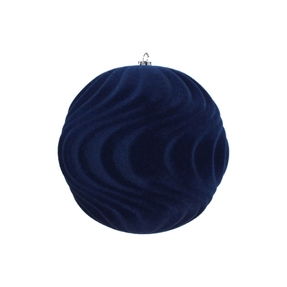 "Calypso Soft Felt Ornament 6"" Set of 2 Midnight"