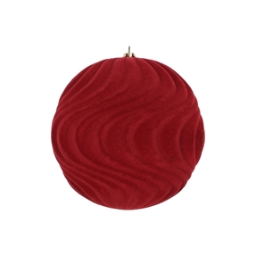 "Calypso Soft Felt Ornament 6"" Set of 2 Burgundy"