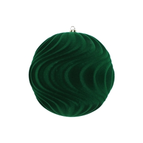 "Calypso Soft Felt Ornament 6"" Set of 2 Green"