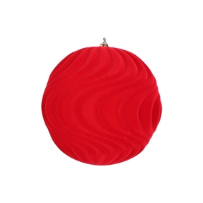 "Calypso Soft Felt Ornament 6"" Set of 2 Red"