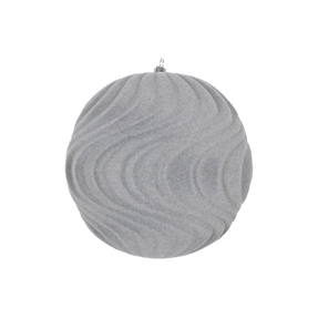 "Calypso Soft Felt Ornament 6"" Set of 2 Grey"