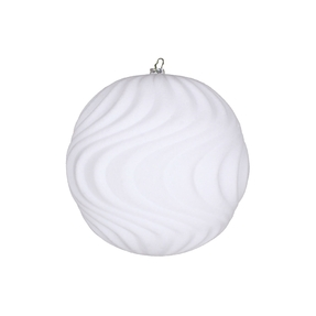 "Calypso Soft Felt Ornament 6"" Set of 2 White"