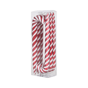 "Candy Cane 7.5"" Set of 6 Peppermint"