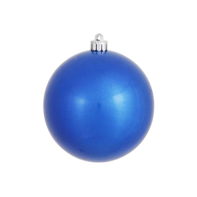 "Blue Ball Ornaments 4"" Candy Finish Set of 6"