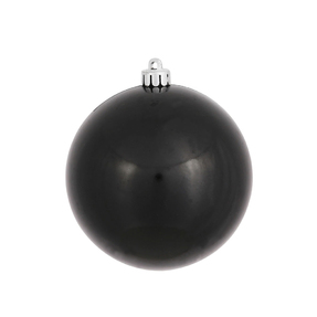 """Black Ball Ornaments 6"""" Candy Finish Set of 4"""
