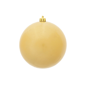 """Champagne Ball Ornaments 4"""" Candy Finish Set of 6"""