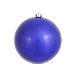 "Cobalt Ball Ornaments 8"" Candy Finish Set of 2"