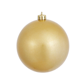 "Gold Ball Ornaments 4"" Candy Finish Set of 6"