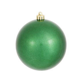 "Green Ball Ornaments 4"" Candy Finish Set of 6"
