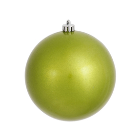 """Lime Ball Ornaments 4"""" Candy Finish Set of 6"""
