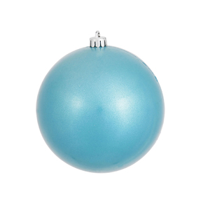 "Turquoise Ball Ornaments 4.75"" Candy Finish Set of 4"